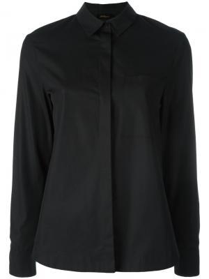 Классическая рубашка Les Copains. Цвет: чёрный