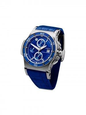 Наручные часы Abyss Chronograph 44 мм Jorg Hysek. Цвет: синий
