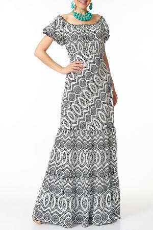 Платье Argent. Цвет: белый, синий