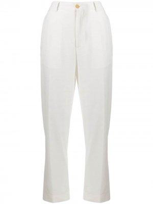 Зауженные бархатные брюки Forte. Цвет: белый