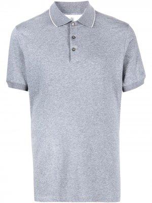 Рубашка поло с короткими рукавами Brunello Cucinelli. Цвет: серый