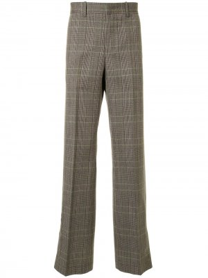 Клетчатые брюки строгого кроя Wooyoungmi. Цвет: зеленый