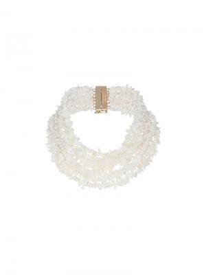 Ожерелье с камнями Rosantica. Цвет: белый