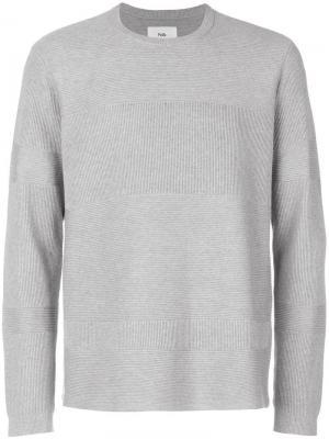 Ребристый свитер Folk. Цвет: серый
