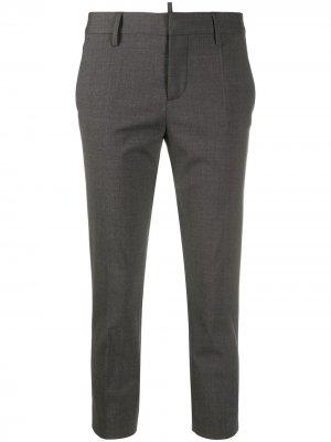Укороченные брюки строгого кроя Dsquared2. Цвет: серый