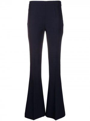 Расклешенные брюки скинни Blanca Vita. Цвет: синий