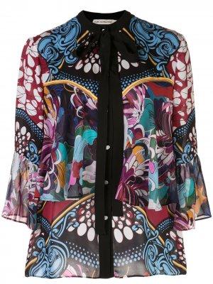 Блузка Milana с цветочным принтом Mary Katrantzou. Цвет: черный