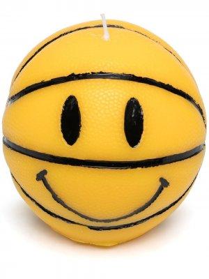 Свеча Smiley в виде баскетбольного мяча Chinatown Market. Цвет: желтый
