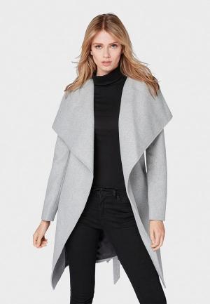Пальто Tom Tailor Denim. Цвет: серый