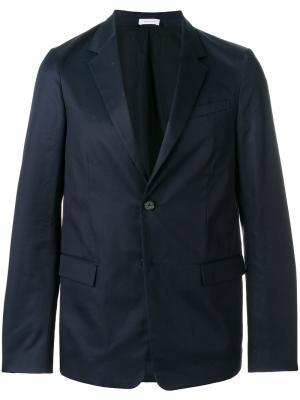 Пиджак с карманами клапанами Jil Sander. Цвет: синий