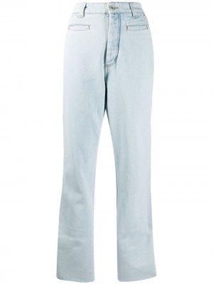 Прямые джинсы с завышенной талией LOEWE. Цвет: синий