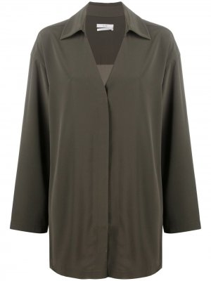 Блузка оверсайз с V-образным вырезом Co. Цвет: зеленый