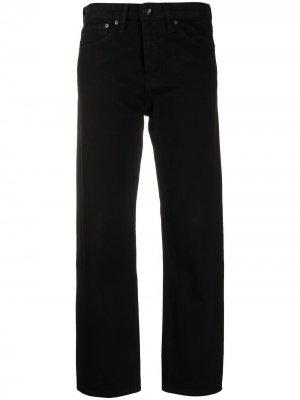 Прямые джинсы Maya с завышенной талией Rag & Bone. Цвет: черный