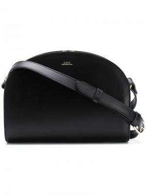 Полукруглая сумка на плечо A.P.C.. Цвет: черный