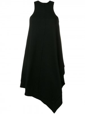 Асимметричное платье-майка UNRAVEL PROJECT. Цвет: черный