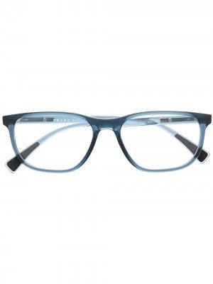 Очки в прямоугольной оправе Prada Eyewear. Цвет: синий