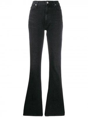 Расклешенные джинсы Georgia с завышенной талией Citizens of Humanity. Цвет: черный