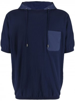 Футболка с капюшоном Herno. Цвет: синий