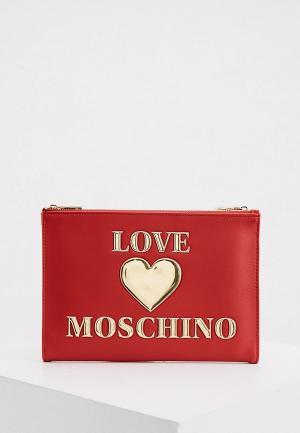 Клатч Love Moschino. Цвет: красный