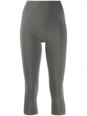 Укороченные бесшовные легинсы Filippa K Soft Sport. Цвет: серый
