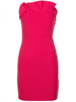 Платье бандо с плиссировкой Cinq A Sept. Цвет: розовый