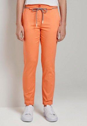 Брюки Tom Tailor. Цвет: оранжевый