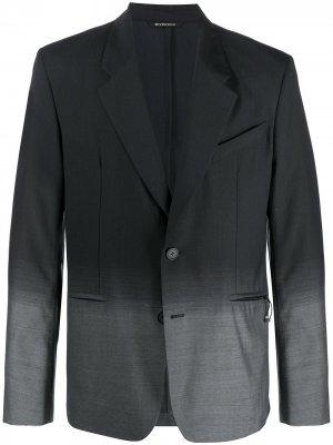 Однобортный пиджак с эффектом градиента Givenchy. Цвет: черный