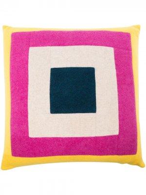Кашемировая подушка с принтом The Elder Statesman. Цвет: нейтральные цвета