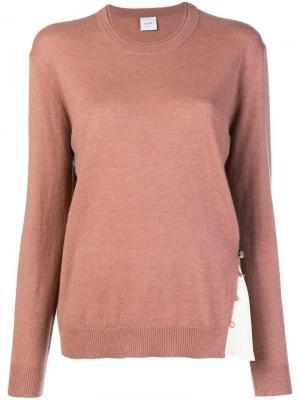 Contrast insert sweater Alysi. Цвет: розовый