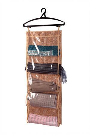 Кофр для одежды, 5 карманов COFRET. Цвет: коричневый