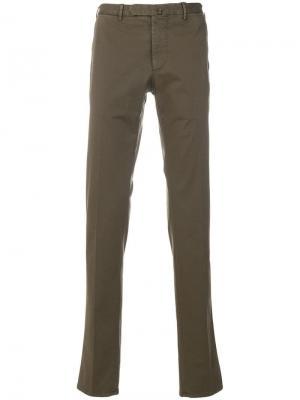 Delloglio брюки-чинос прямого кроя Dell'oglio. Цвет: коричневый