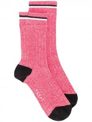 Носки в рубчик с логотипом Marni. Цвет: красный