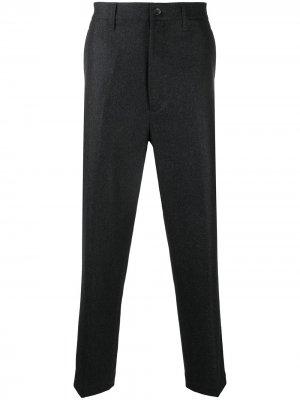 Прямые брюки строгого кроя Junya Watanabe. Цвет: серый