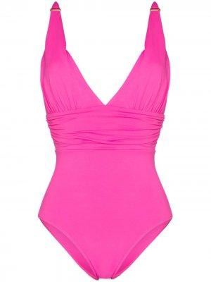 Купальник Panarea с V-образным вырезом Melissa Odabash. Цвет: розовый