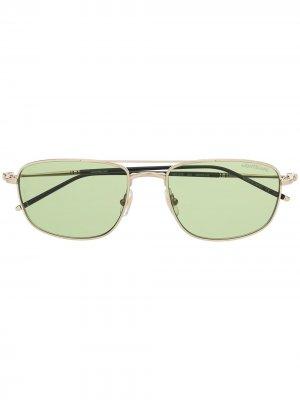 Солнцезащитные очки в квадратной оправе Montblanc. Цвет: золотистый