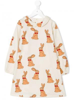 Платье Rabbit Mini Rodini. Цвет: нейтральные цвета
