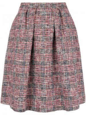 Flared tweed skirt Ps By Paul Smith. Цвет: красный