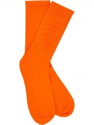 Носки с логотипом Stadium Goods. Цвет: оранжевый