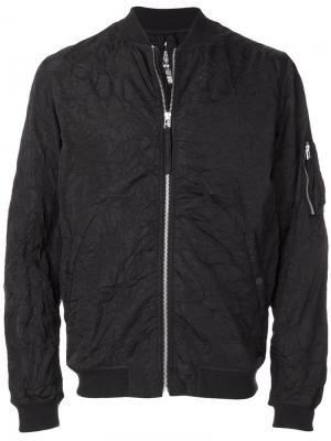 Куртка-бомбер с мятым эффектом Maharishi. Цвет: черный