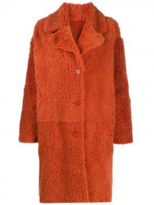 Двустороннее пальто Drome. Цвет: оранжевый