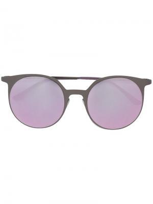 Солнцезащитные очки в круглой оправе Italia Independent. Цвет: серый