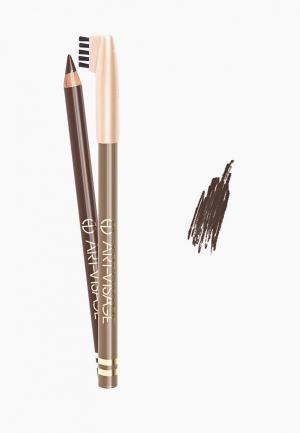 Карандаш для бровей Art-Visage. Цвет: коричневый