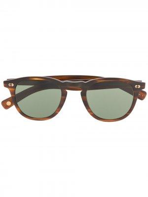Солнцезащитные очки в оправе черепаховой расцветки Garrett Leight. Цвет: коричневый