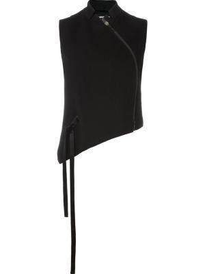Асимметричный жилет Ann Demeulemeester. Цвет: черный