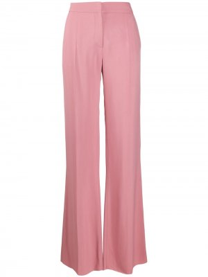 Расклешенные брюки строгого кроя Valentino. Цвет: розовый