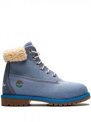 Ботинки 6in Fabric Timberland. Цвет: синий