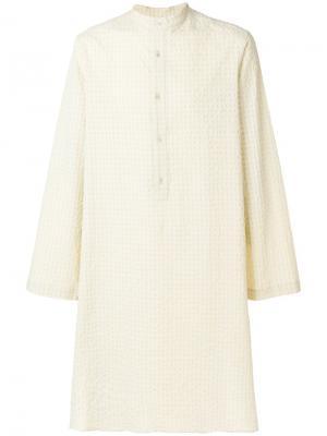 Рубашка-туника средней длины Qasimi. Цвет: нейтральные цвета