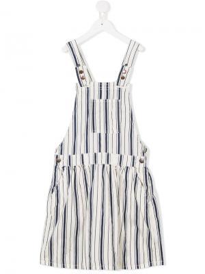 Платье-комбинезон в полоску American Outfitters Kids. Цвет: белый