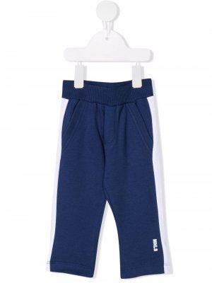 Спортивные брюки со вставками Monnalisa. Цвет: синий