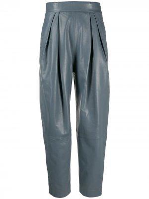 Зауженные брюки Alberta Ferretti. Цвет: серый